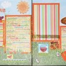 "2 CREATIVE 12X12 SCRAPBOOK PAGES ""PICNIC TIME"" CHQD"