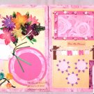 "Creative Pre Made Scrapbook pages ""Bloom"" CHQD"