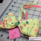 Hair Accessory, Neon Hair Flower Bow HD-0218