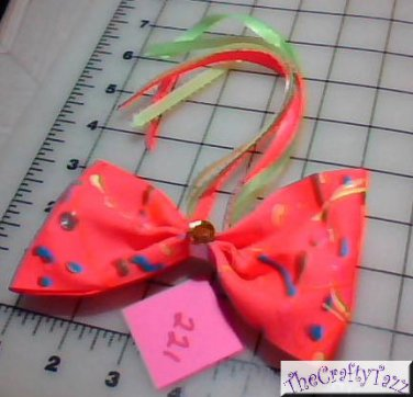 Hair Accessory, Neon Hair Flower Bow HD-0221