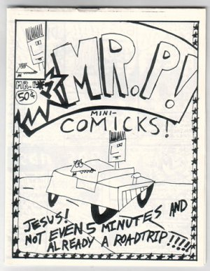 MR. P #1 &amp; 2 mini-comic JACK FLAP 1991 comix