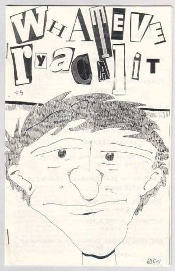 WHATEVERYACALIT #5 mini-comic CHRIS VARGAS 1989 comix