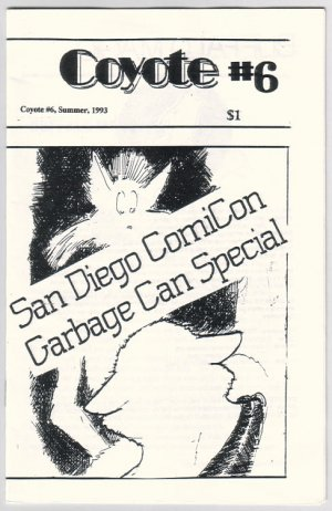 COYOTE #6 mini zine MEL. WHITE 1993 ashcan