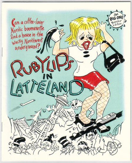RUBYLIPS IN LATTELAND mini-comic RANDAL PARKER 2004