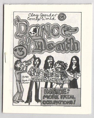 DANCE OF DEATH #3 mini-comic LARRY TODD Jane J. Oliver 1982