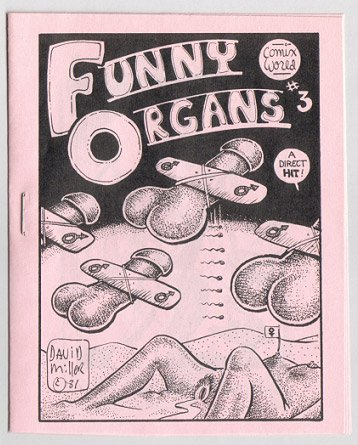 FUNNY ORGANS #3 mini-comic GRASS GREEN Brad Foster DAVID MILLER 1981