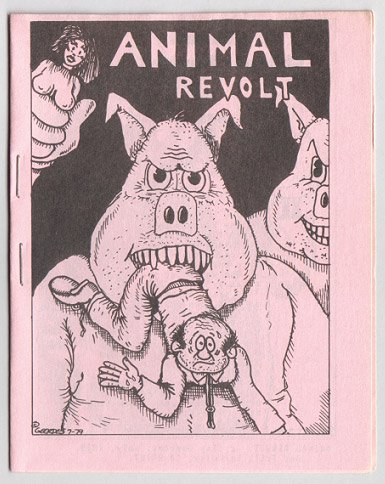 ANIMAL REVOLT mini-comic CLAY GEERDES 1979 pink
