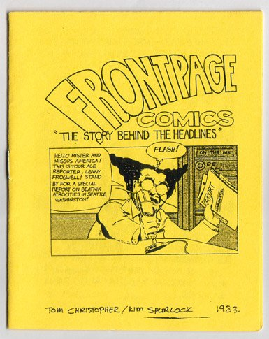 FRONT PAGE COMICS mini-comic TOM CHRISTOPHER 1983 comix
