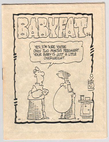BABYFAT #36 mini-comic JOE ZABEL Jim Ryan BOB VOJTKO 1983