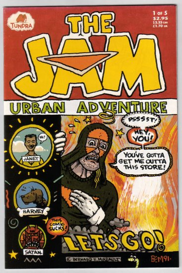 THE JAM URBAN ADVENTURE #1 Bernie Mireault 1992 Tundra