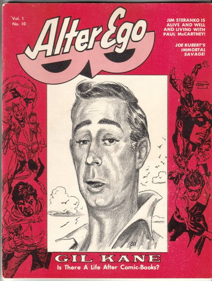 ALTER EGO #10 Gil Kane, Joe Kubert, Roy Thomas 1969 fanzine