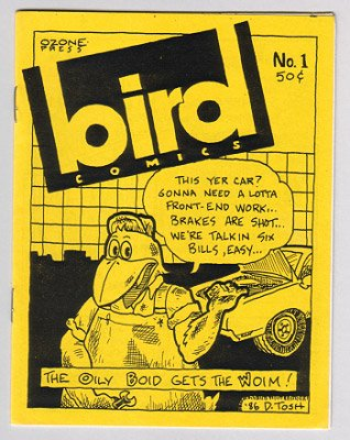 BIRD COMICS #1 mini-comic Brad Foster, Daryl Hutchinson, D. Tosh 1986 comix