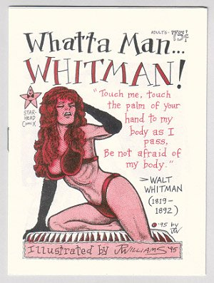 WHATTA MAN... WHITMAN mini-comic J.R. WILLIAMS 1995 Walt Whitman