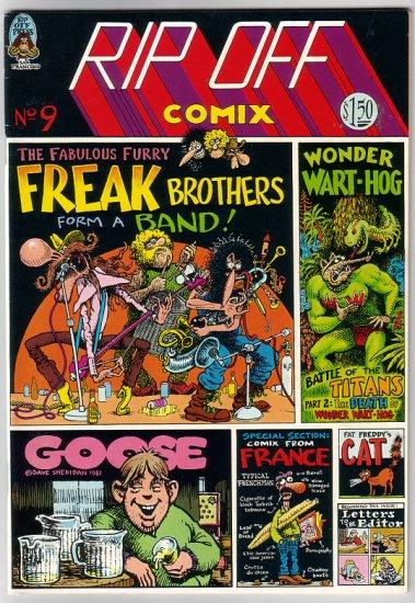 RIP OFF COMIX #9 Sheridan SHELTON French comix 1981