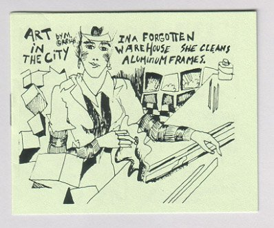 ART IN THE CITY mini-comic MAGGIE RESCH 1985 art comix