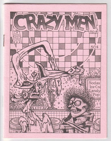 CRAZY MEN #4 mini-comic MICHAEL RODEN 1984 art brut comix
