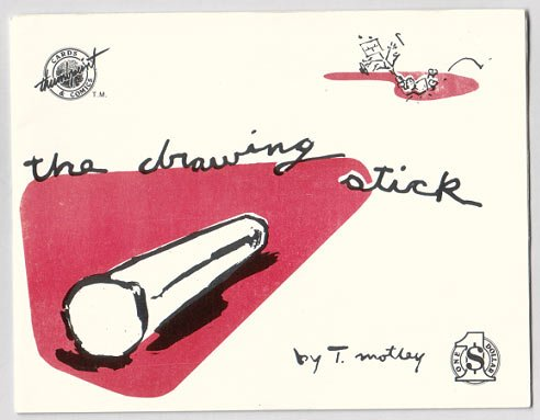 DRAWING STICK mini-comic T. MOTLEY 1985 wordless comix