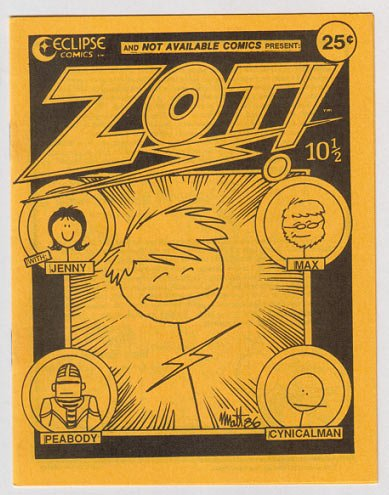 ZOT 10-1/2 mini-comic SCOTT MCCLOUD Matt Feazell 1986 Phantasy Press