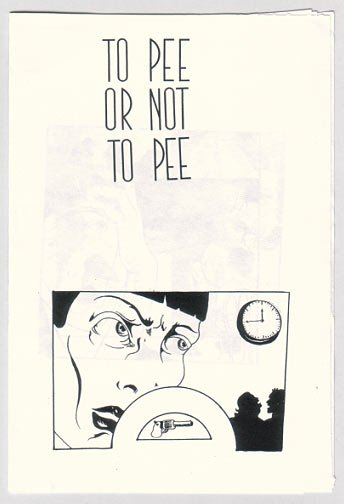THE SYSTERN and TO PEE OR NOT TO PEE mini-comics MAJA D'AOUST