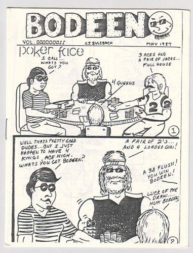 BODEEN #2 mini-comic G.J. SULZBACH 1987