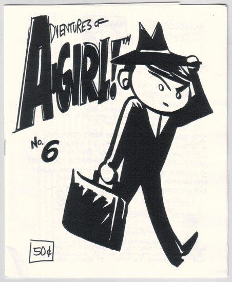 ADVENTURES OF A-GIRL #6 mini-comic ELIZABETH WATASIN 1998