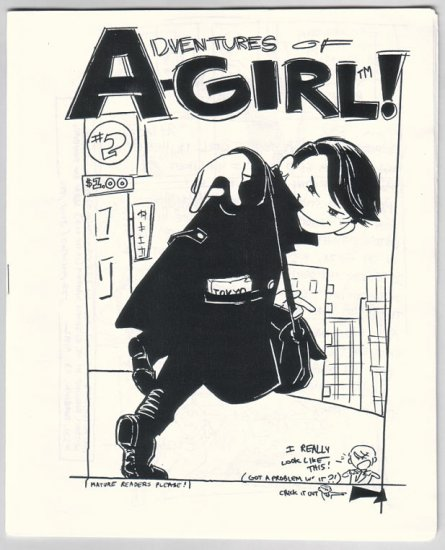 ADVENTURES OF A-GIRL #2 mini-comic ELIZABETH WATASIN 1996