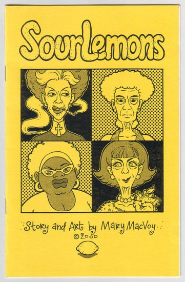 SOUR LEMONS mini-comic MARY MACVOY 2000
