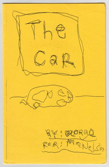 THE CAR and ANIMAL BOOK childlike mini-comics set of 2