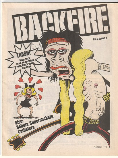 BACKFIRE Seattle music zine PETER BAGGE cover 1999