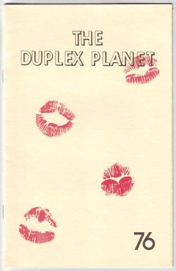 DUPLEX PLANET #76 zine David Greenberger 1986 zines