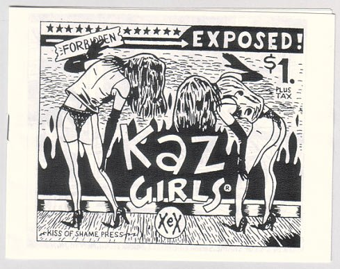 KAZ GIRLS mini-comic KAZ 1989 Screw Magazine pin-ups