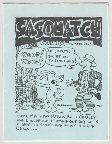 SASQUATCH COMIX #4 mini-comic STEVE WILLIS 1983 bigfoot