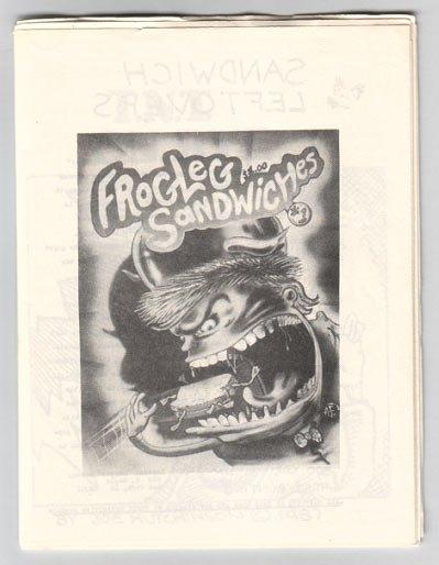 FROGLEG SANDWICHES #1 Hutchinson BOLMAN Foster 1987