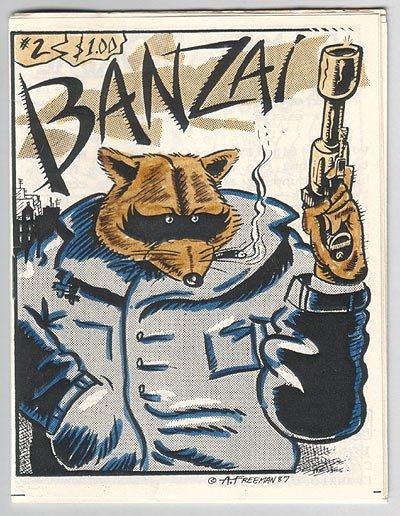 BANZAI #2 mini-comic BRAD FOSTER Edward Bolman 1987
