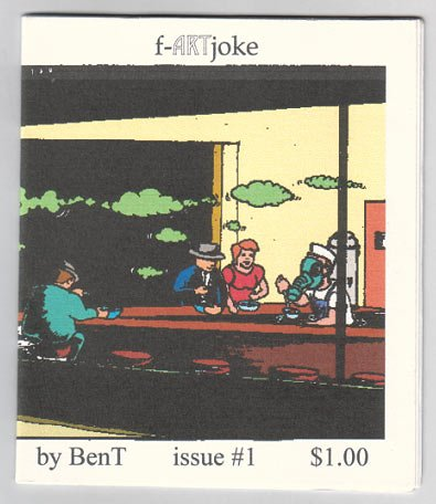 F-ARTJOKE #1 mini-comic JIM SIERGEY Scott Mills BEN T. STECKLER 2001