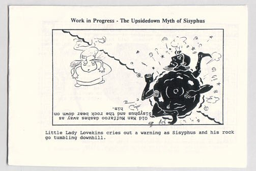 THE UPSIDEDOWN MYTH OF SISYPHUS mini-comic HANK ARAKELIAN