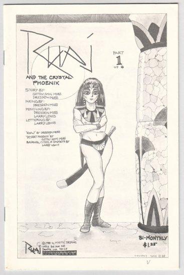 RHAJ AND THE CRYSTAL PHOENIX #1 mini-comic DRESDEN MOSS 1988