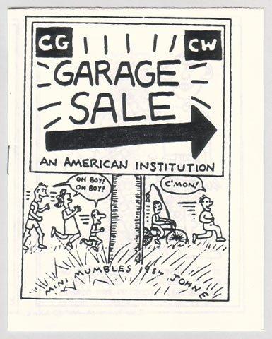 GARAGE SALE mini-comic JOHN E 1984 Comix Wave