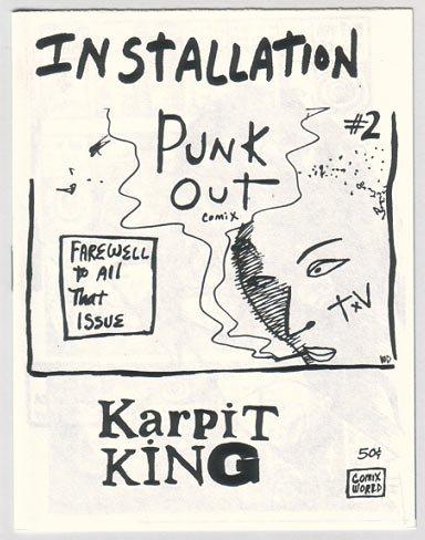 INSTALLATION PUNK OUT #2 mini-comic WILLIAM DOCKERY 1986