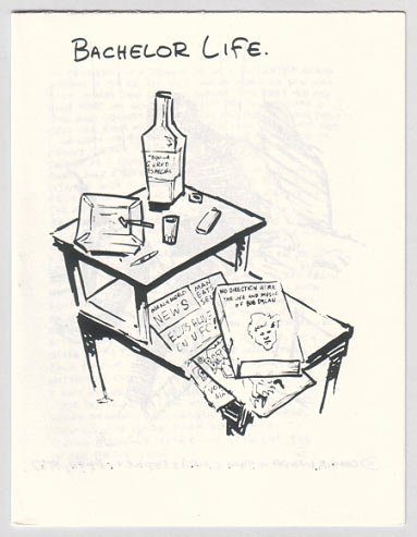 BACHELOR LIFE mini-comic TOM CHRISTOPHER 1987