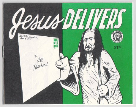 JESUS DELIVERS mini-comic JIM WOODRING David Lasky 1st 1996