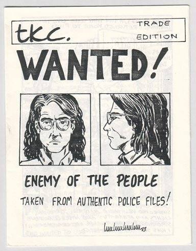 WANTED mini-comic TOM CHRISTOPHER 1983