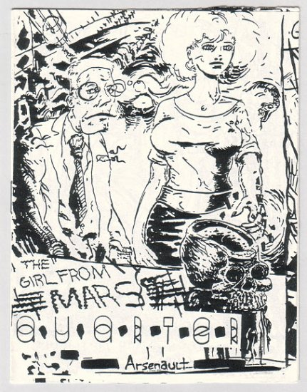 THE GIRL FROM MARS mini-comic MARC ARSENAULT 1990 comix