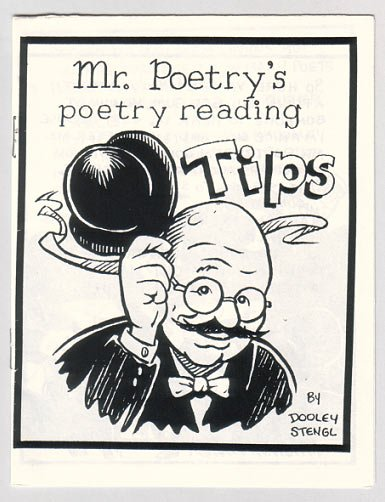 MR. POETRY'S POETRY READING TIPS mini-comic DOOLEY & STENGL 1992