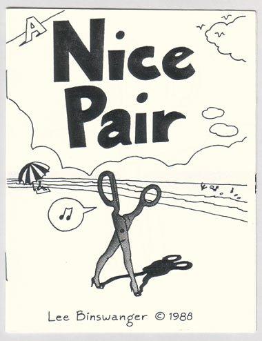 A NICE PAIR mini-comic LEE BINSWANGER 1988