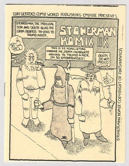 STONER MAN KOMIX #8 mini-comic PARSONAVICH 1983