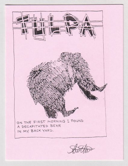 TULPA mini-comic STEVE WILLIS signed ltd. ed.