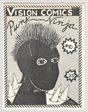 PUNK NINJA #10 Canadian mini-comic CAROLE SOBOCINSKI signed-numbered 1988