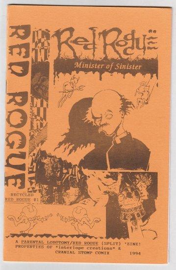 PARENTAL LOBOTOMY - RED ROGUE mini-comic zine CHAD WOODY 1994