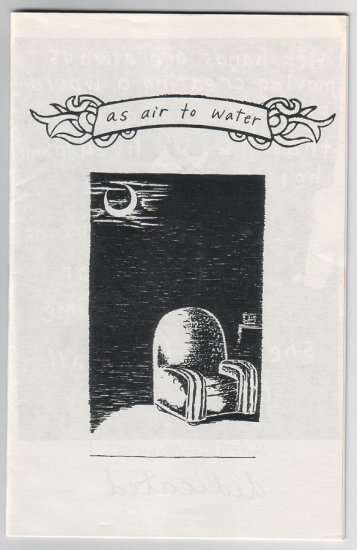 AS AIR TO WATER mini-comic CHANTALE ELENA DOYLE mid '90s